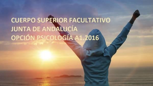 cuerpo superior facultativo psicología Andalucía